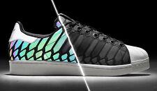 Adidas Xeno Edición SUPERSTAR talla 11 blanco y Negro Reflectante DMC shelltoe