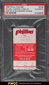 1980 Philadelphia vs Houston Ticket Stub #STUB PSA Auth