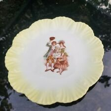 """Vintage """"Love the Giver"""" 7"""" Ruffled Edge Cabinet Plate."""