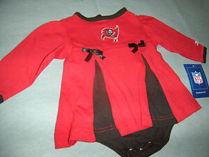 TAMPA BAY BUCCANEERS BABY OUTFIT GIRL NFL REEBOK 6/9 MONTHS
