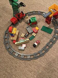 Lego Duplo Thomas  LOT CRANE CARS TRAINS FIGURE TRACKS