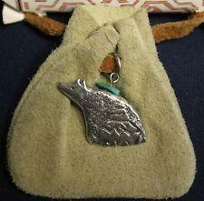 SW medicine bag pendant: Protection of Mother Bear ( beige suede leather bag)