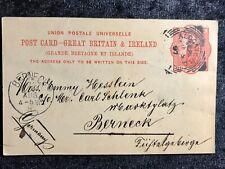 ALT ENGLAND echt gelaufener Beleg 1897 - London -  Berneck
