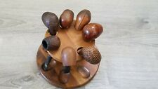 Six Wintage Smoking Pipes + Holder Stand...