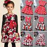 Summer Girls Kids Dresses Princess Baby Cartoon Mickey Minnie Party Casual Dress