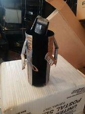 Wine Caddy Bottle Holder Tin Man Barber Hair Dresser w scissors and comb