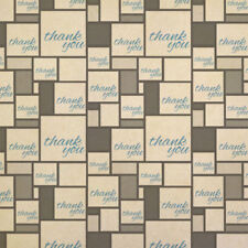 Thank You Blue Kraft Present Gift Wrap Wrapping Paper