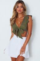 Ruffles Bow Tie V-neck Women Summer Crop Top Fashion Casual Cropped T Shirt Tops