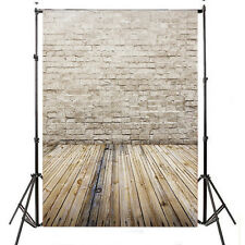 3x5FT Brick Wall Wood Floor Vinyl Photography Backdrop Prop Background ZZ44 US
