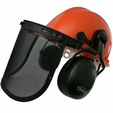Laser 22700 Chainsaw Safety Helmet with Ear Muffs & Mesh Visor