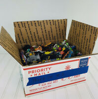Huge Lot Toy Cars & Trucks Hot Wheels Matchbox & More Medium Flat Rate Box FULL