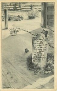 Amusement Grave Main Ghost Town Knotts Buena Park California Postcard 21-948