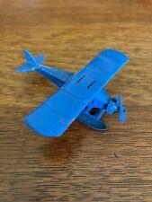 Vintage Tootsietoy Aero Dawn Float Plane Ux 214 Light Blue with Biplane Pontoons