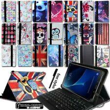 """Funda de Piel con Soporte + Teclado para 7"""" 8 10 Samsung Galaxy Tab a A6 Tablet"""