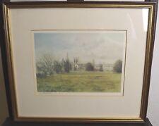 Framed Signed Ken Messer Print Picture of Oxford Cathedral