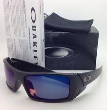 OAKLEY POLARIZED Sunglasses GASCAN OO 26-244 Matte Black Frame /Ice Iridium Lens
