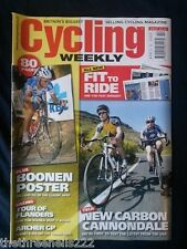 CYCLING WEEKLY - NEW CARBON CANNONDALE - APRIL 9 2005