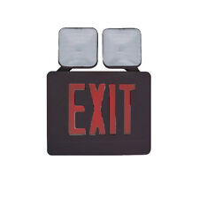 Red and Black Exit Emergency Light  With Side Or Top Mounting Heads 6 Pack