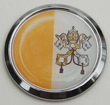 Vatican City Catholic Flag Car Chrome round Emblem Decal Bumper Sticker 3D