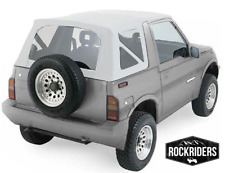 98752 White Soft Top with Clear Windows 88-94 Suzuki Sidekick Geo Tracker Vitara
