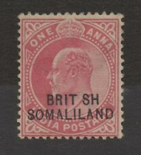 Somaliland. 1911. SG26a. 1a carmine. Missing I in BRITISH error. Mtd mint.