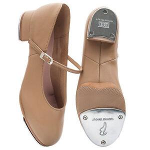 Bloch SO370L Tan Kelly split sole Heel tap shoes.