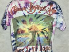 Vintage ALLMAN BROTHERS Band Tour T Shirt Tie Dye 1995 USA Made Rock Country