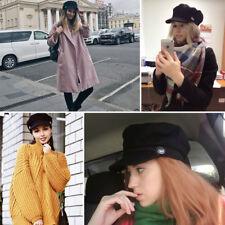 Hot Ladies Womens Girls Wool Blend Baker Boy Peaked Cap Newsboy Hat Fashion UK