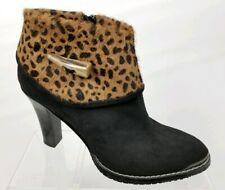DONALD J PLINER Sport-I-Que Antonio Women's Ankle Boots Cheetah Black Suede Sz 7