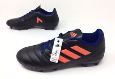 New Women's Adidas Black Blue Red Soccer Cleats Athletic Shoes 17.4 Sz. 6