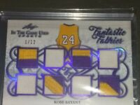 2019 LEAF IN THE GAME USED KOBE BRYANT 8X GAME WORM  LOGO-PATCH RELIC #1/12.