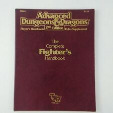 AD&D Complete Fighter's Handbook Player's Handbook 2E Rules Supplement, TSR