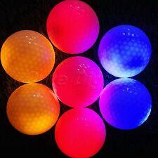 4Pcs Electronic LED Flashing Light Up Golf Balls for Sports Night Golfing Tracer