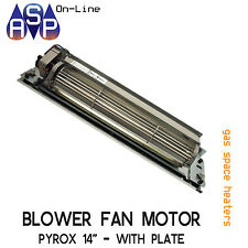"BLOWER FAN MOTOR ASSY 360MM 14"" WITH PLATE PYROX SPACE HEATERS - PART# 3721301SP"
