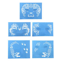 Animal Designs Face Eye Paint Stencil Reusable Washable Face Paint Template
