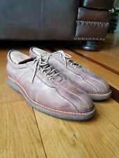 Allen Edmonds Voyager Brown Leather Walking Shoes Oxford Bicycle Toe Wide Sz 10E