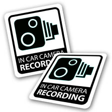 2 x Camera Recording Car Stickers - CCTV Dash Cam Black Warning Video Decals