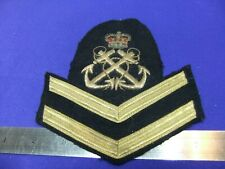 patch badge royal navy anchor rank stripes naval merchant bullion embroidered