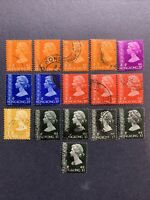 1973-77 HONG KONG ,  DEFINITIVE ISSUES USED STAMPS