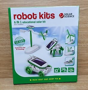 SOLAR SCIENCE Robot Kits 6 In 1 Educational Solar Kit Build You Own