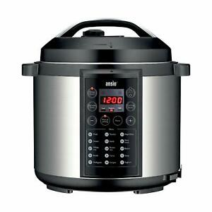 ANSIO Electric Pressure Cooker Programmable Electronic Multifunction - 5.7Litre