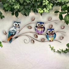 Außen Haus Wand Bild Behang Eulen Design Terrassen Vogel Garten Dekoration bunt