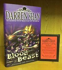 Blood Beast - Darren Shan **Signed UK 1st/1st** 2007 + Pack Scarce Trading Cards