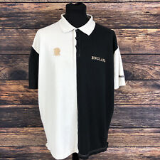 More details for guinness style men's cream black rugby england jersey polo shirt size xl