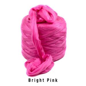 10kg Bright Pink Mammoth®   Giant Super Chunky Extreme Arm Knitting Crochet Yarn