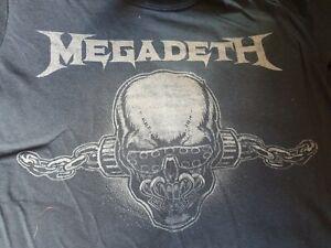 Megadeth tour shirt T Tee Shirt l large New  black
