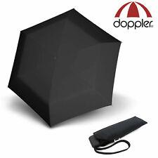 doppler Regenschirm mini slim carbonsteel Taschenschirm sturmsicher uni schwarz