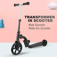 Adjustable 2in1 Kids Kick Scooter Toddler Ride on  Push Kids Toys Gift❤SP