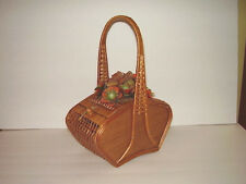 Vintage Basket Purse/Sewing with Handle