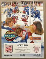 Oldtimers Hockey Challenge 1995 Portland Valley Ice Arena Coca Cola Poster VTG